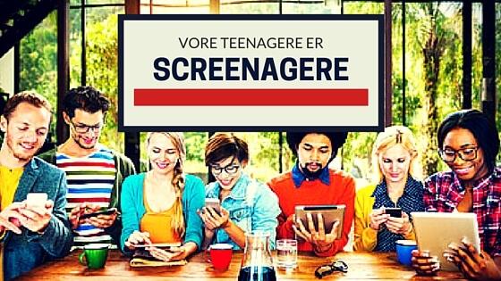 Teenagere er afhængige af smartphones - Hulemænd i habitter